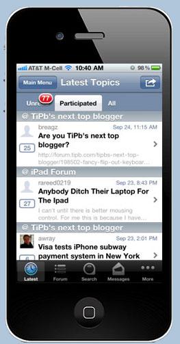 SmartPhone Forum App (TapaTalk)
